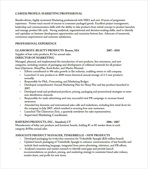 Product development manager resume examples