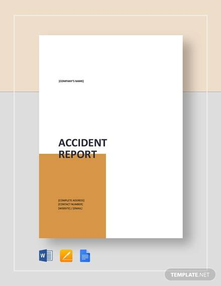 13+ Sample Accident Incident Reports - Docs, PDF, Pages