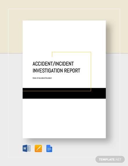 accident incident investigation report