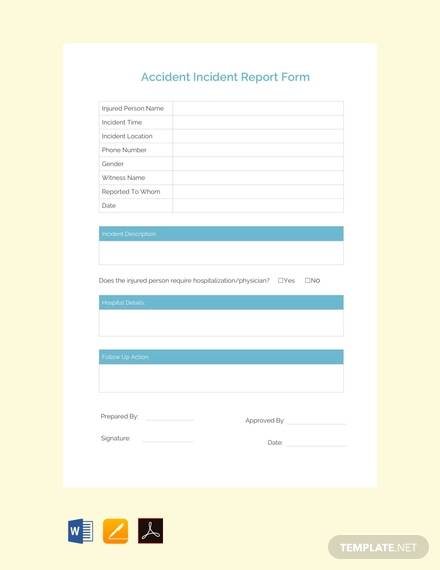 accident incident report free