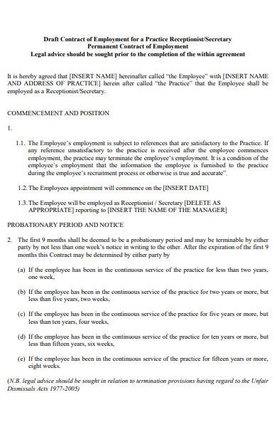 basic job contract in pdf