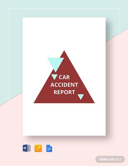 car accident reporttemplate