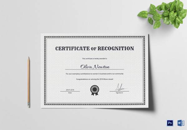 certificate of recognition template1