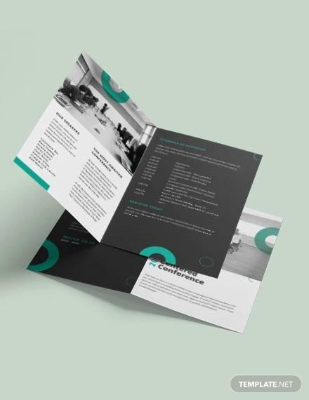 conference bi fold brochure template