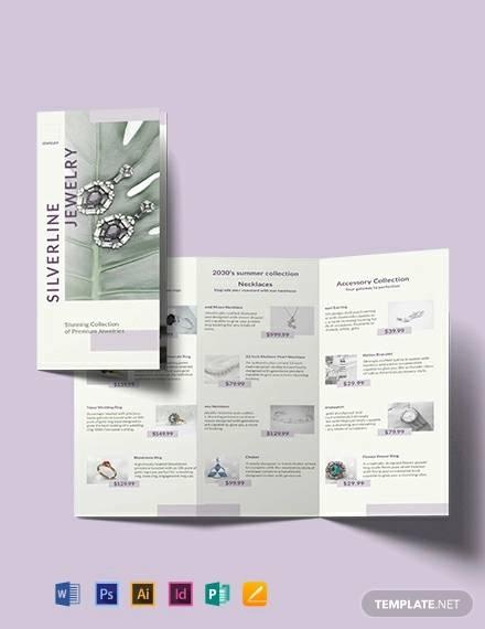 jewelry boutique tri fold brochure template