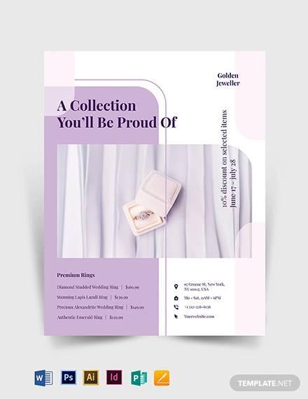 jewelry promotion flyer