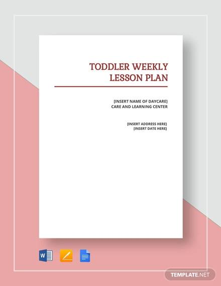 sample toddler lesson plan