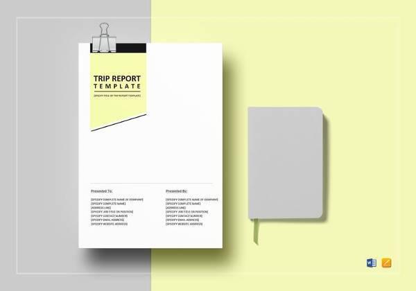 simple trip report template1