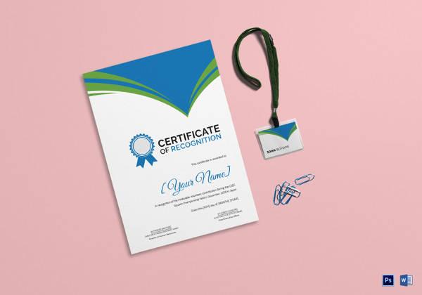 squash recognition certificate template