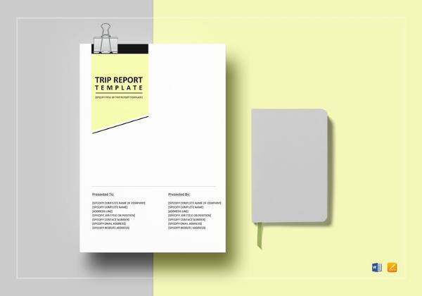 trip report template to edit