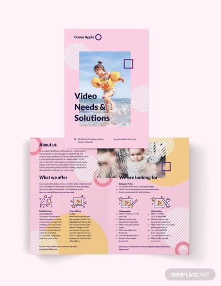video bi fold brochure template