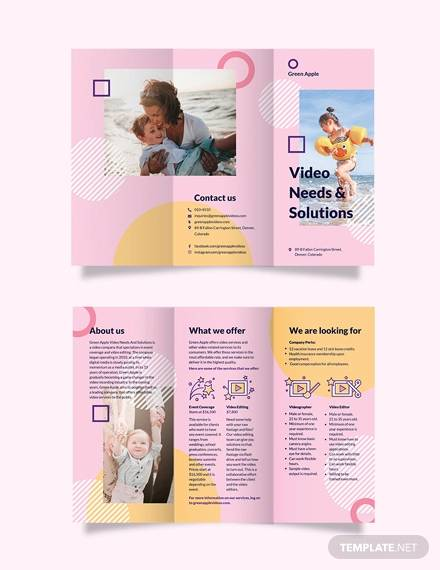 video tri fold brochure template