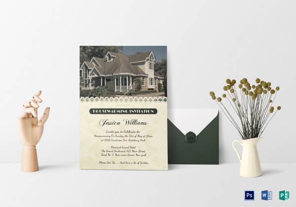 welcoming housewarming invitation card template