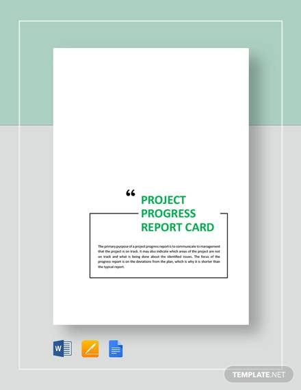 progress report card