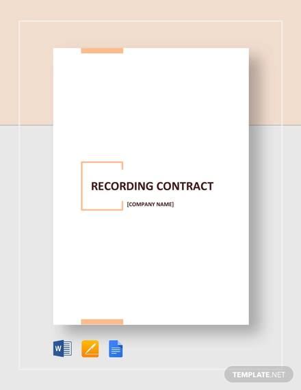 recording contract