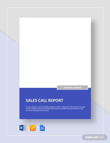 sales call report