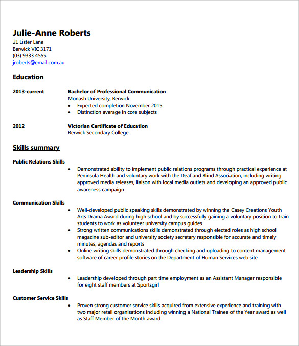 assistant manager resume example - Resume Examples For Assistant Manager