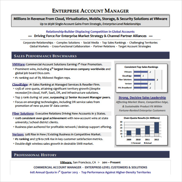free download account manager resume - Global Account Manager