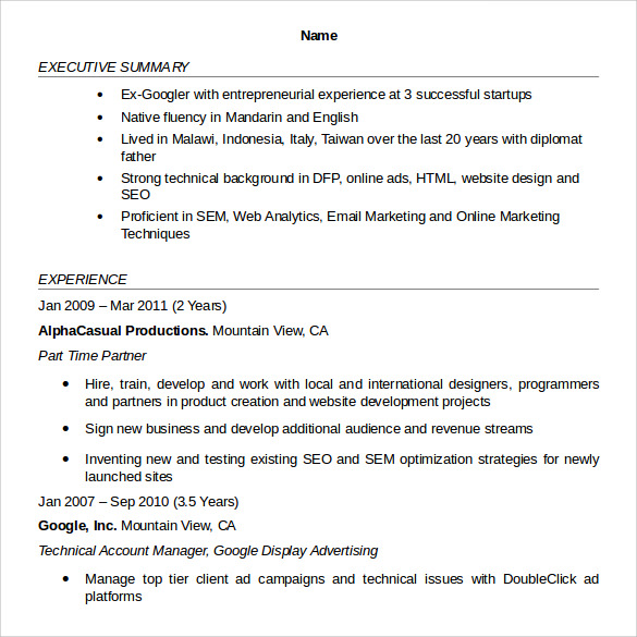 Sample Account Manager Resume - 12+ Download Free Documents In Pdf