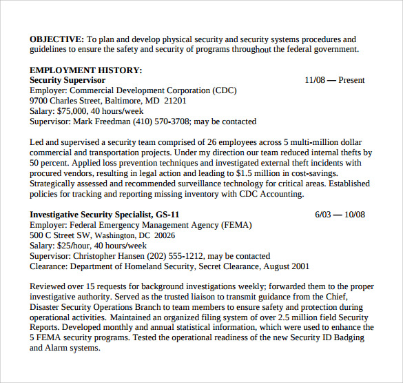 supervisor resume 12 free documents in pdf word
