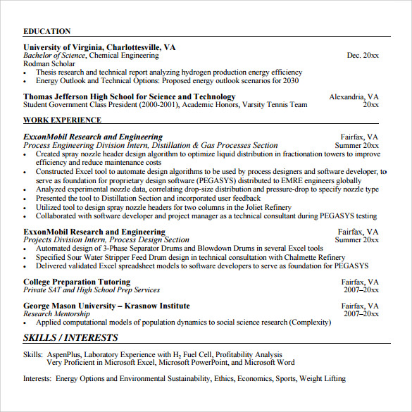 software developer resume to print