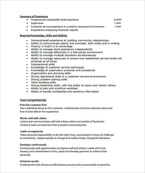 Sample Store Manager Resume  10
