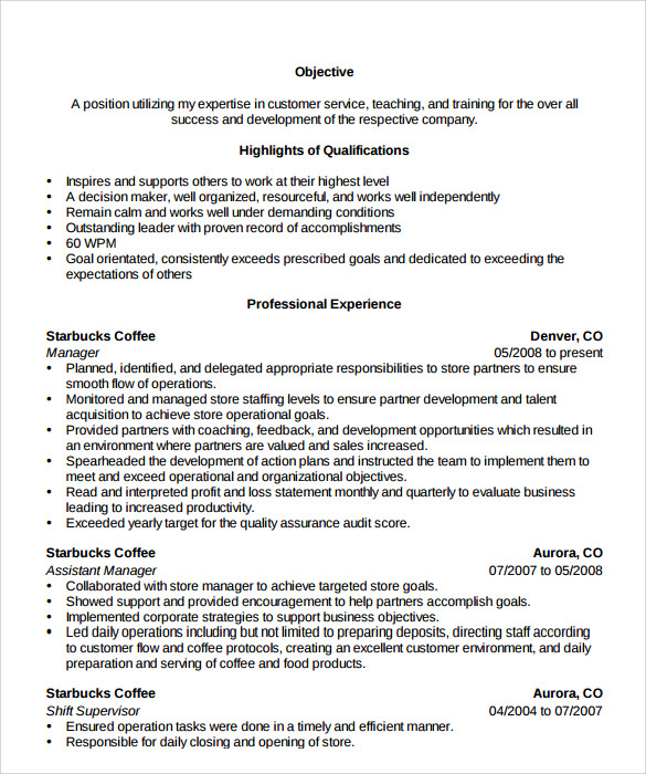 store manager resume example - Retail Store Manager Resume Examples