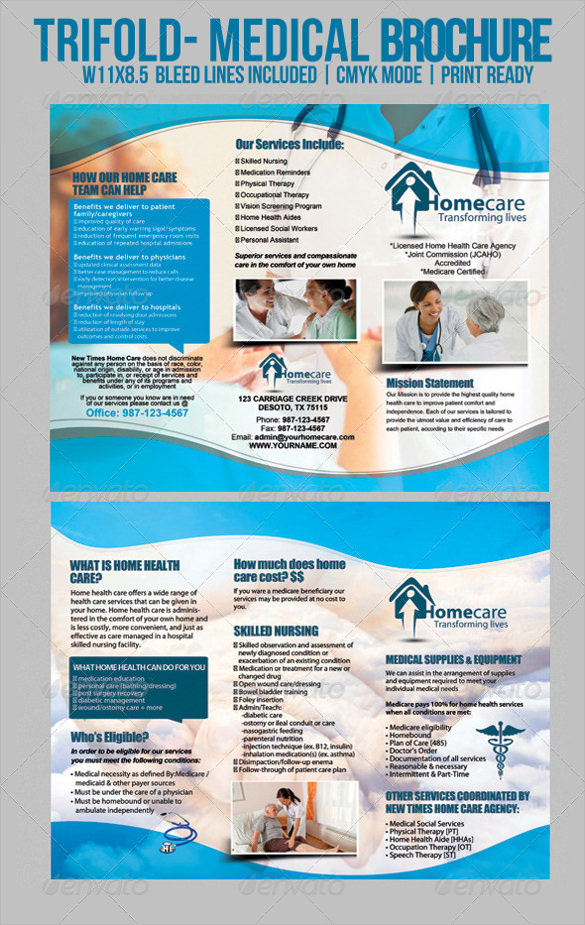 Medical brochure templates 24 download documents in for Pamphlet photoshop template