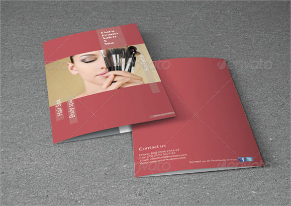 bifold brochure beauty salon