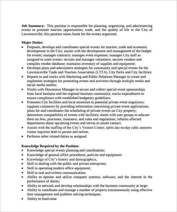 Event Coordinator Resume Sample Resume Pr Communications Event