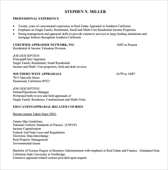 14 real estate resume templates to download for free