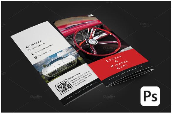 car tri fold brochure