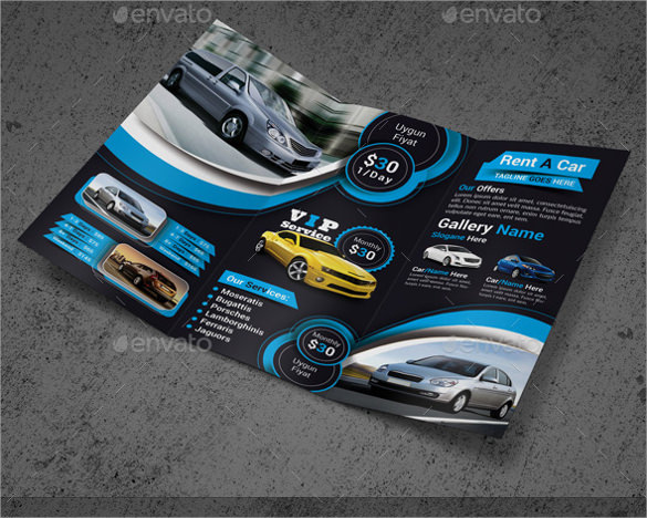 old car brochure template free
