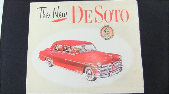 vintage car brochure