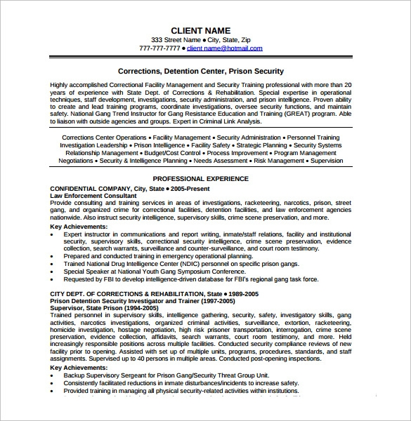 security resume 11 download free documents in pdf word