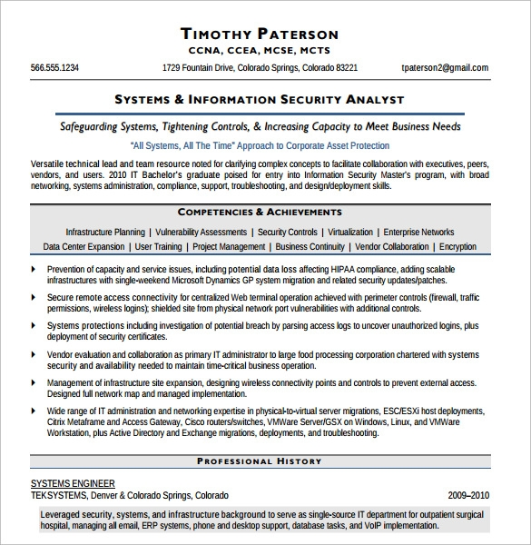 information security analyst resume - Information Security Resume
