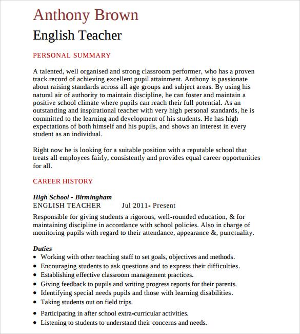 elementary teacher resume 12 download free documents