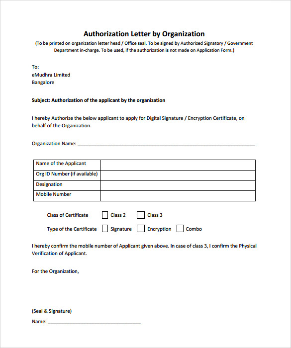 Sample Bank Authorization Letter 9 Free Examples