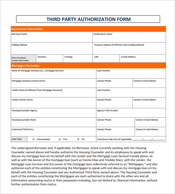 9 sample third party authorization letter  u2013 free