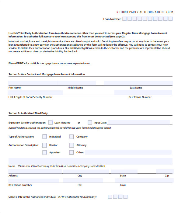 third party authorization letter sample