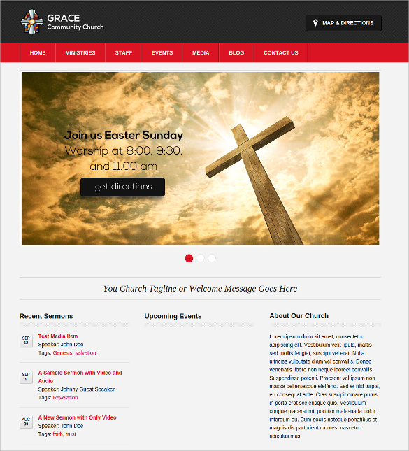Free religious website templates 16 free church website themes