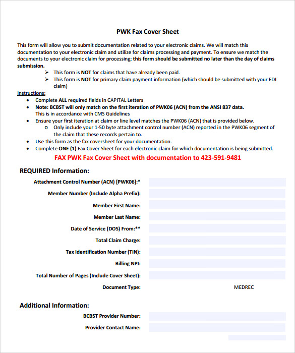 Sample Modern Fax Cover Sheet   Documents In Pdf Word