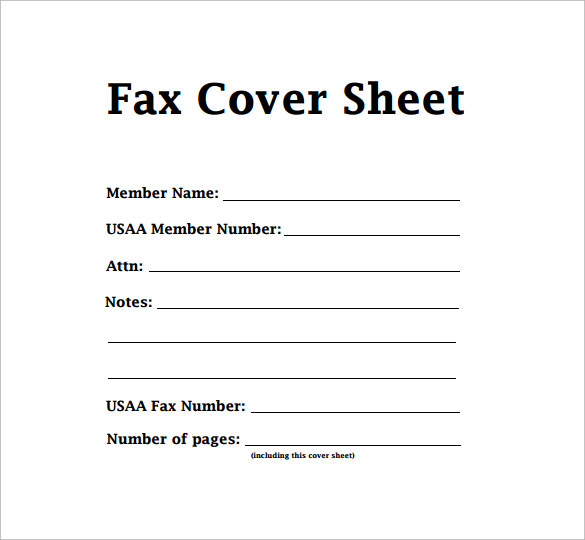 free printable fax cover sheet