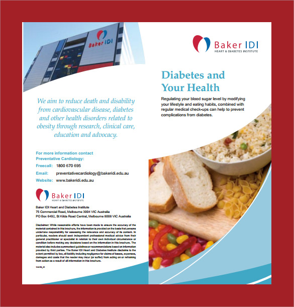 13 Diabetes Brochure Templates PSD PDF