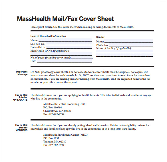 Simple Basic Fax Cover Sheet