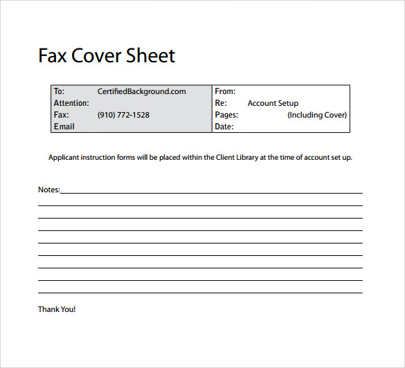 basic fax cover sheet 14 free samples examples formats