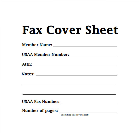 basic fax cover sheet example