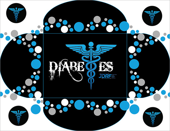 diabetes folding brochure