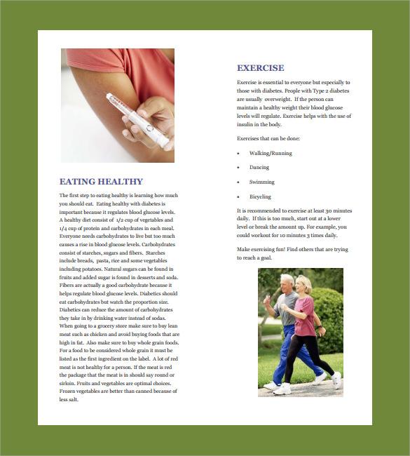 diabetes brochure template free