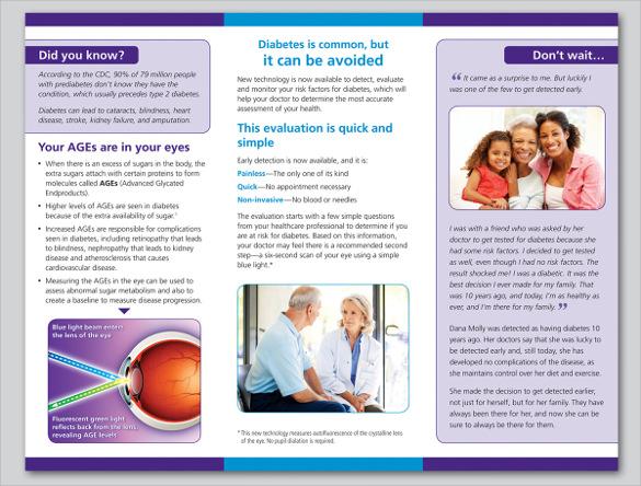 diabetes brochure templates